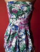Sukienka w kwiaty bombka NEW LOOK XS na lato...
