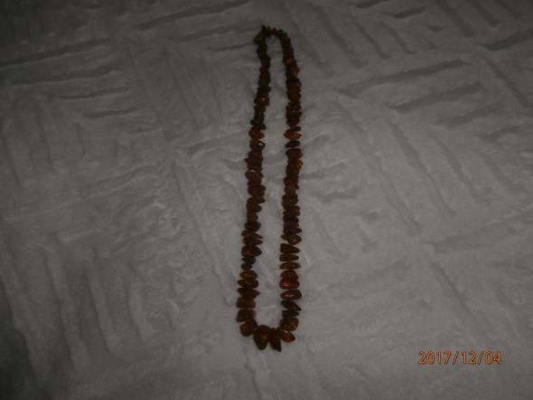 naszyjnik z bałtyckiego miodowego bursztynu