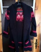 Kardigan sługi sweter z kieszeniami świąteczny...