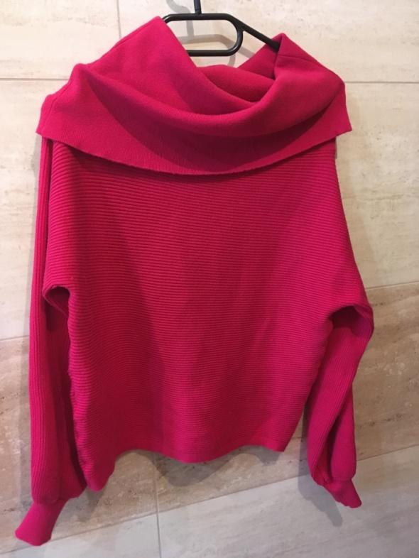 malinowy sweter zara 36 nowy bez metki...