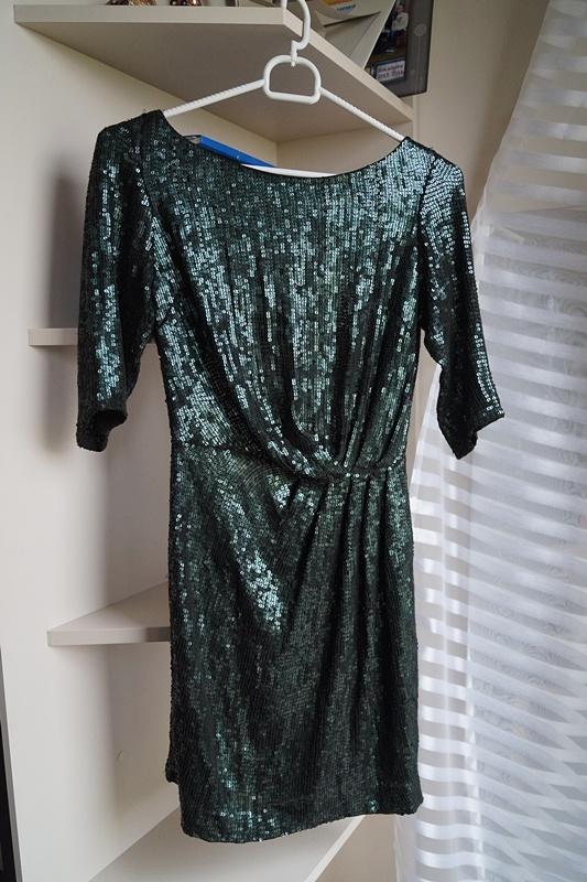 Butelkowa sukienka cekiny Top Shop S...