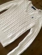 Biały sweter Ralp raluren 34 xs nowy