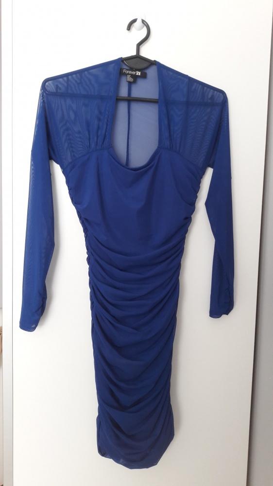Niebieska sukienka FOREVER21...