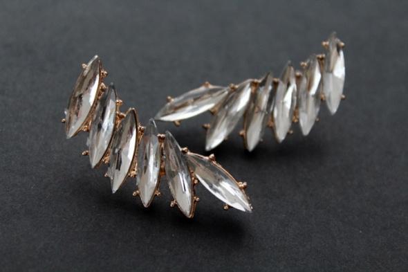 Kolczyki kryształy nowe crystal vintage