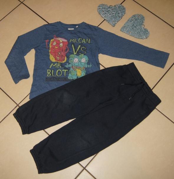Zestaw chłopiec bluzka spodnie dresowe śmieciaki