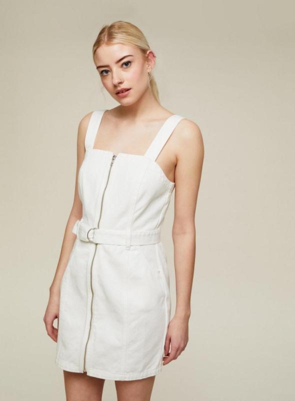Miss Selfridge jeansowa sukienka z pakiem zip S 36...