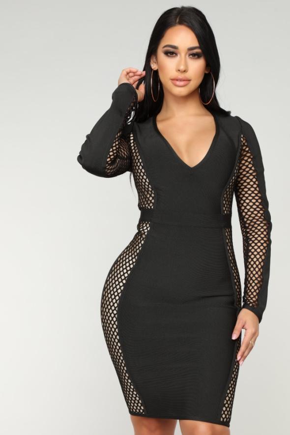 Nowa sukienka bandażowa fashionnova elegancka i zjawiskowa