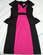 elegancka sukienka z baskinką...