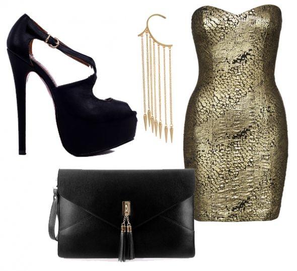 Nowa złota sukienka NEW Yorker Amisu