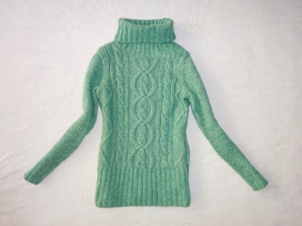 TU zielony ciepły golf zimowy polar sweter 36 S...