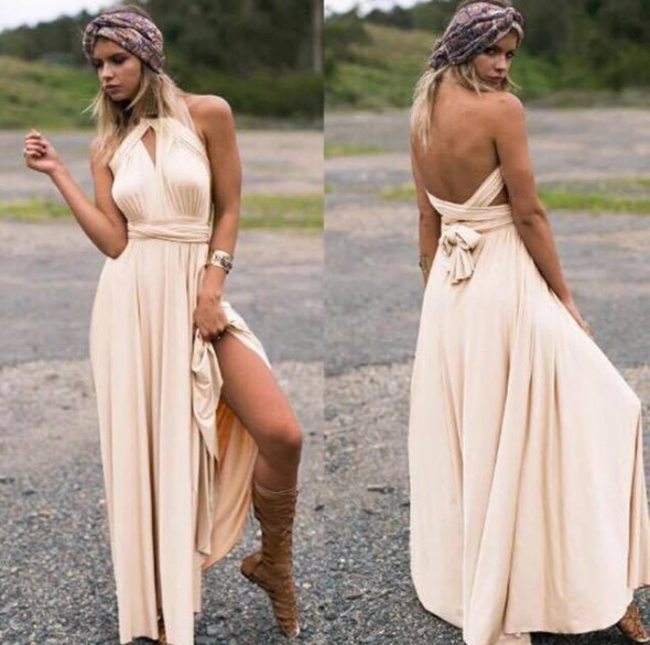 3ce2c7cd24 Suknie i sukienki Długa suknia 11 kolorów wesele druhny 24 ułożenia
