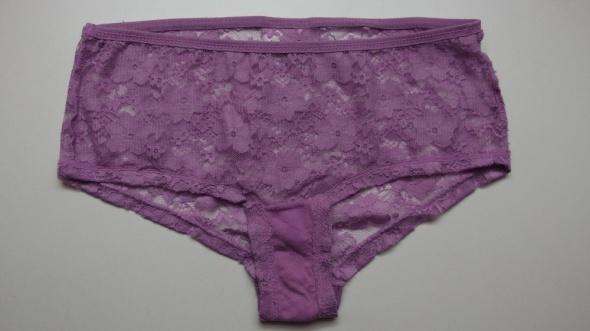 koronkowe majtki figi H&m koronka fioletowe xs 34