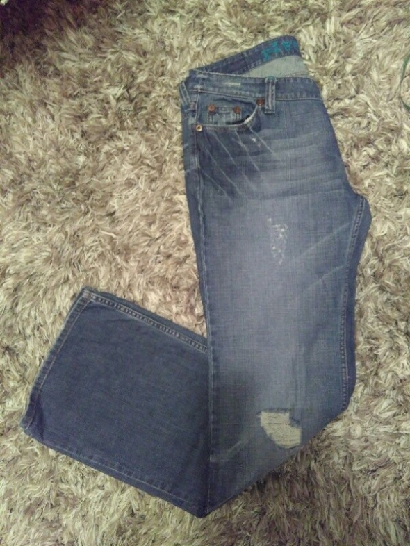 river island jeansy dziury 46...