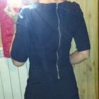 elegancka czarna bluzka orsay z suwakiem z tyłu