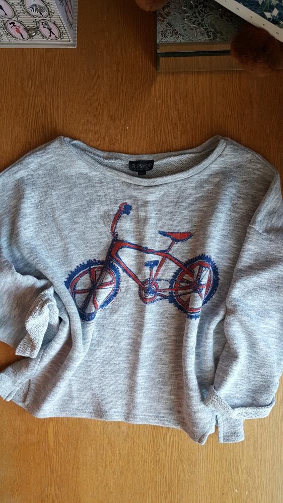Bluza top shop crop top z rowerem...