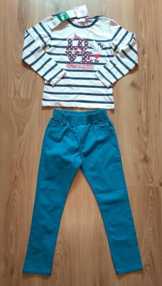 Bluzka z kotkiem Charmmykitty i niebieskie spodnie