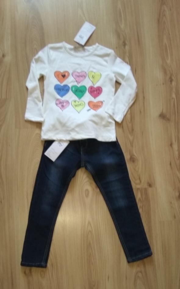 Nowy komplet dziewczęcy bluzka z długim rękawem i