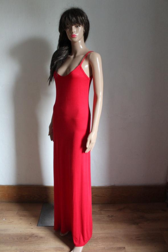 d47c69273d Czerwona sportowa sukienka długa r SM w Suknie i sukienki - Szafa.pl