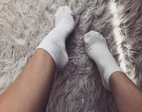 skarpetki białe stopki bawełniane sizeer