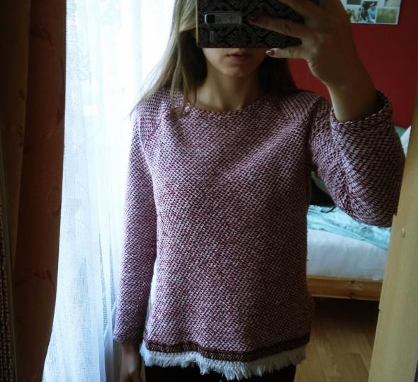 Sweterek BOHO Bershka S frędzle