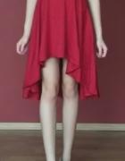 Czerwona asymetryczna sukienka S M...