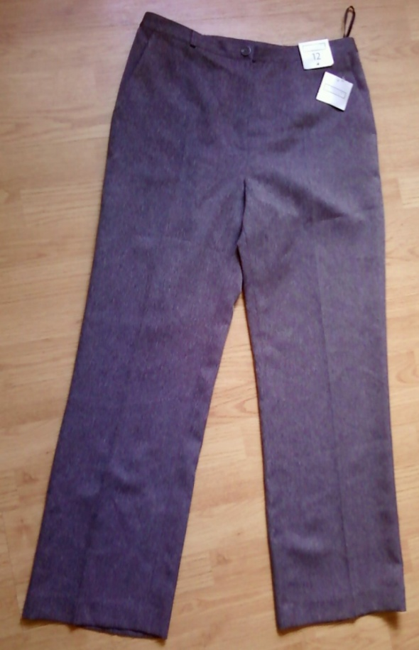 spodnie eleganckie 40 L proste nowe z metką FOTO