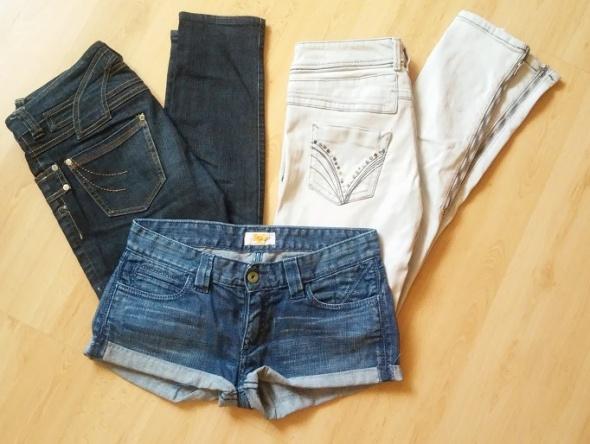jeansy spodnie rurki RI River Island 36 S zip...