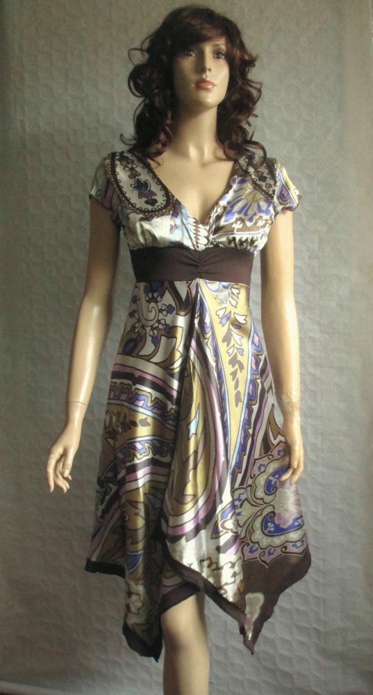 Jus dorange piękna apaszkowa sukienka we wzory 38