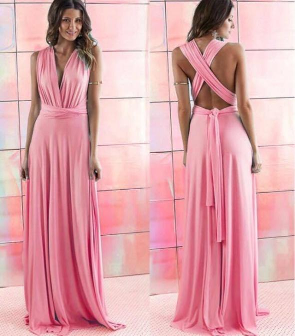 c572bc818a Suknie i sukienki Długa suknia 11 kolorów wesele druhny 24 ułożenia