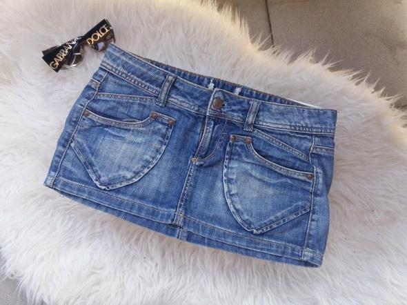 spódnica mini jeansowa Xs S UK
