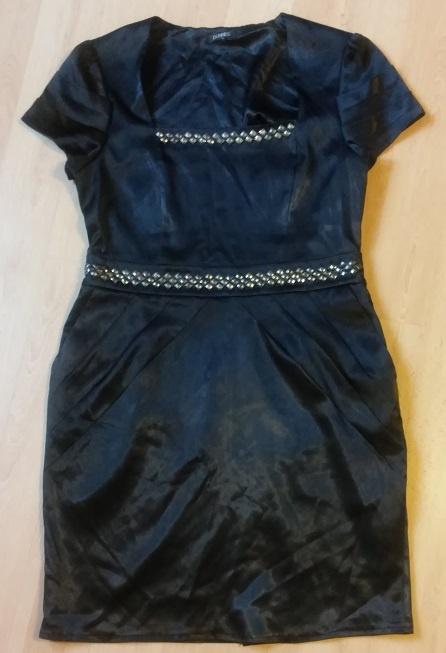 sukienka mała czarna sylwester cekiny 42 XL