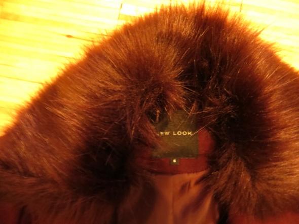 Płaszcz wełniany New Look Burgundy xs...