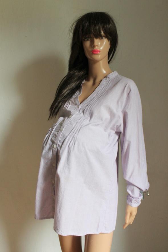 Fioletowa koszula paski zapinana na guziczki idealna na ciążę r...