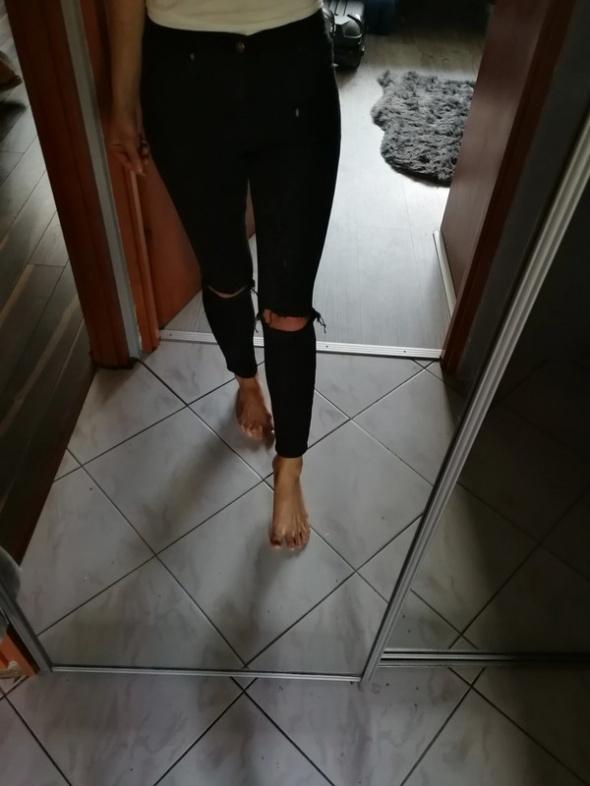 Topshop spodnie rurki czarne jamie xs s petite