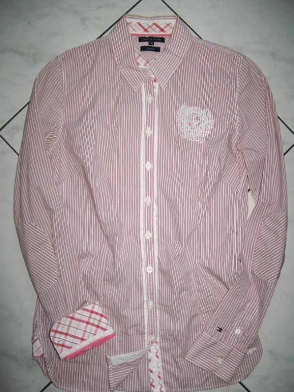 c0a8dd5a0 TOMMY HILFIGER czerwona koszula damska w paski roz 36 w Koszule ...