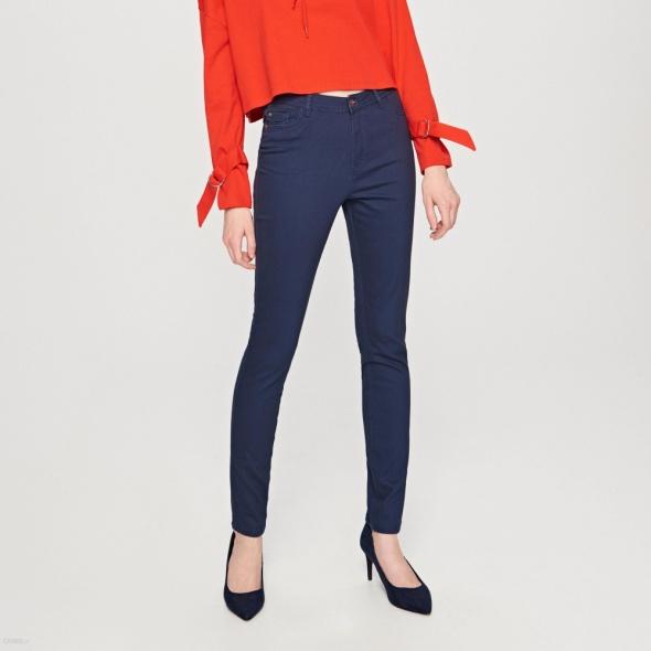 Spodnie Granatowe rurki Reserved S plus marynarka