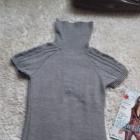 Dzianinowa sukienka z golfem M gratis szalik jak Zara prążek jodełka