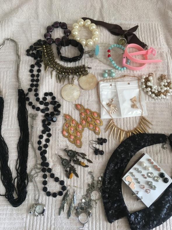 Mega zestaw biżuterii paka