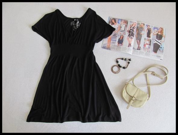 Sukienka mała czarna tunika BUTIK rozmiar M L...