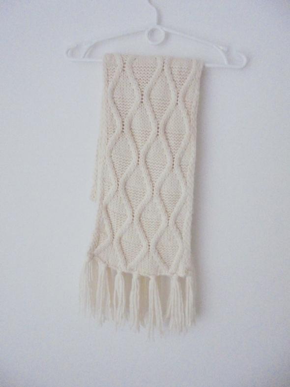 ciepły długi szal wzory