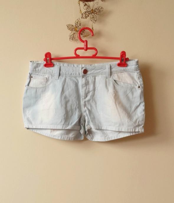 NOWE jeansowe szorty spodenki przetarcia L XL