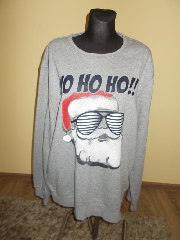 Bluzy Bluza świąteczna Mikołaj XXL
