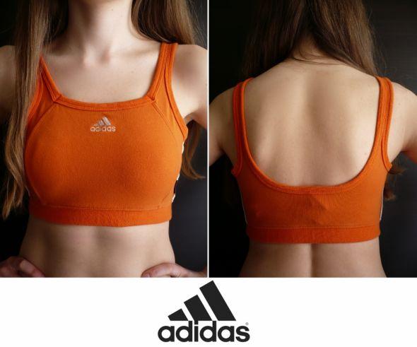 Pomarańczowy krótki top Adidas xs 34 s 36