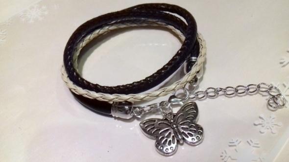 bransoletka z motylem