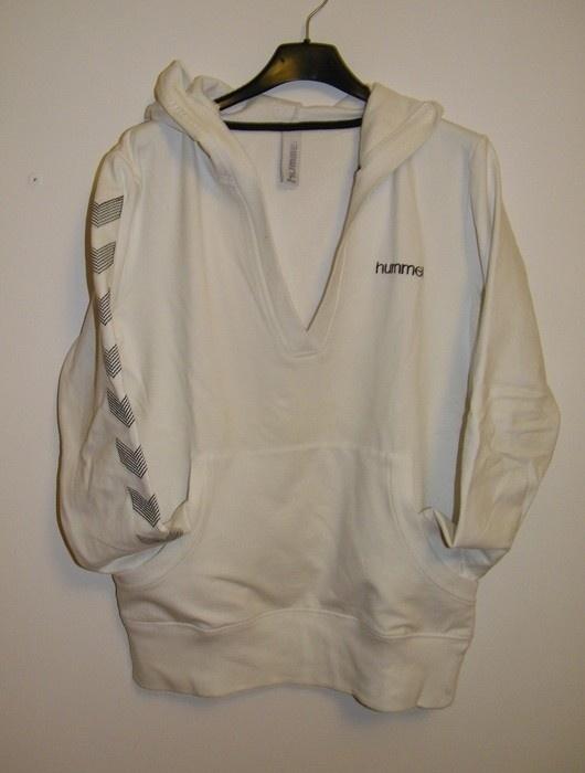 biała bluza z kapturem HUMMEL...