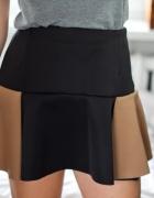 Czarno brązowa spódnica z falbaną M L...