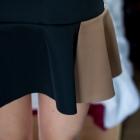 Czarno brązowa spódnica z falbaną M L