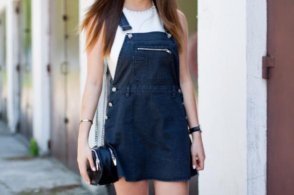 Suknie i sukienki Jeansowa ogrodniczka Motel rocks