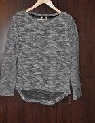 bluzka sweter bershka szary melanż 40 L tył