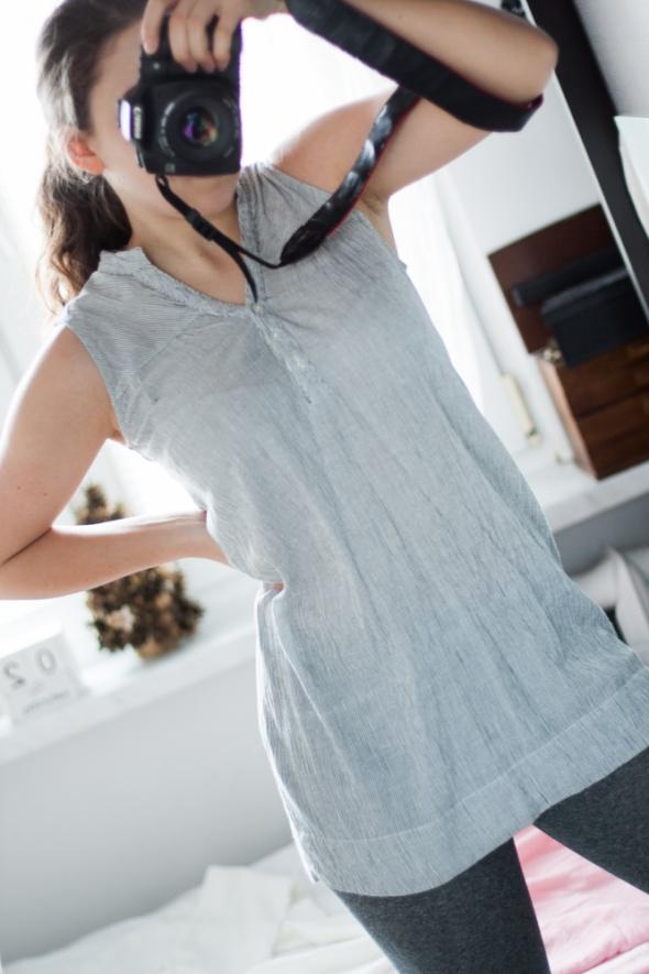 Koszula mini sukienka w paski Vero Moda XS